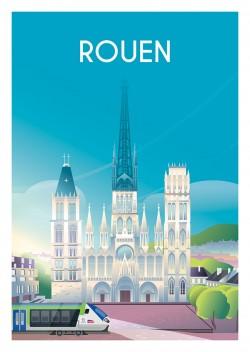 Affiche Rouen